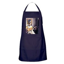 Vermeer - Young Woman Playing a Guita Apron (dark)