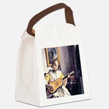 Vermeer - Young Woman Playing a G Canvas Lunch Bag