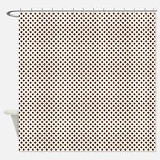 Small Brown Polka Dots Shower Curtain