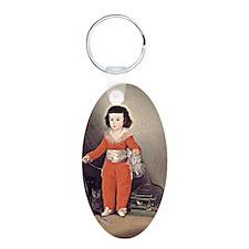 Goya - Don Manuel Osorio Aluminum Oval Keychain