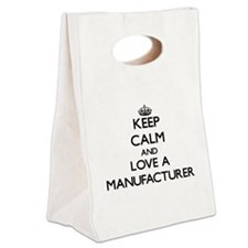 Keep Calm and Love a Manufacturer Canvas Lunch Tot
