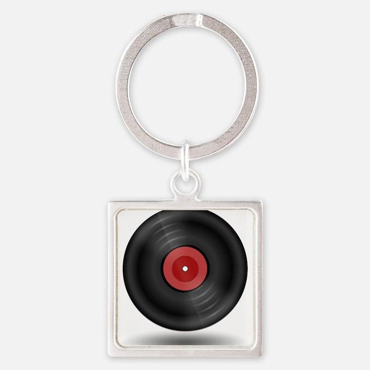 Vintage Vinyl Record Keychains