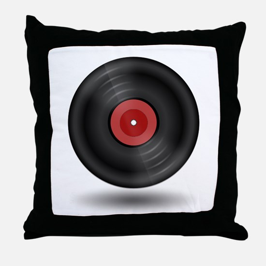 Vintage Vinyl Record Throw Pillow