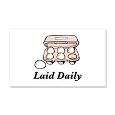 Laid Daily Car Magnet 20 x 12