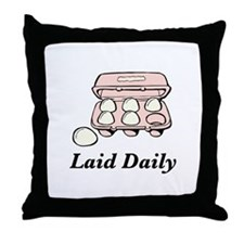 Laid Daily Throw Pillow
