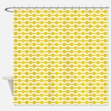 Retro Yellow Beads Shower Curtain