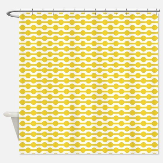Retro Yellow Beads Shower Curtain
