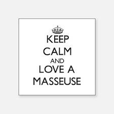 Keep Calm and Love a Masseuse Sticker