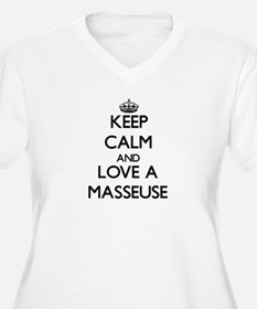 Keep Calm and Love a Masseuse Plus Size T-Shirt