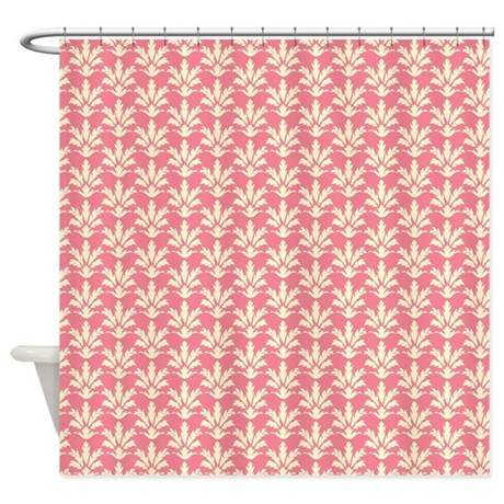 Red Floral Shower Curtain By ColorfulPatterns