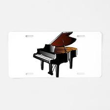 Grand Piano Aluminum License Plate