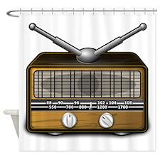 Vintage Radio Shower Curtain