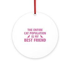 Cat Population Ornament (Round)