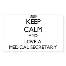 Keep Calm and Love a Medical Secretary Decal