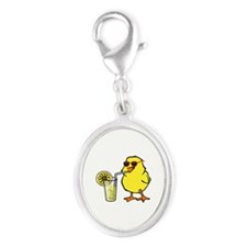 Cool Chick Silver Oval Charm