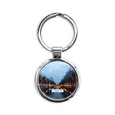 Amsterdam Round Keychain
