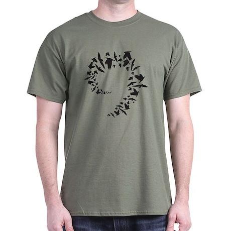 Traditional Bird Flock Spiral T-Shirt