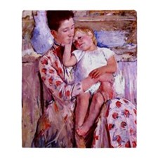 Cassatt: Emmie and her Child Throw Blanket