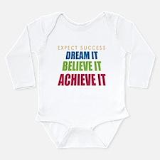 Expect Success Long Sleeve Infant Bodysuit
