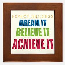 Expect Success Framed Tile