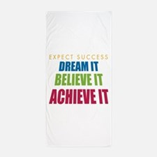 Expect Success Beach Towel