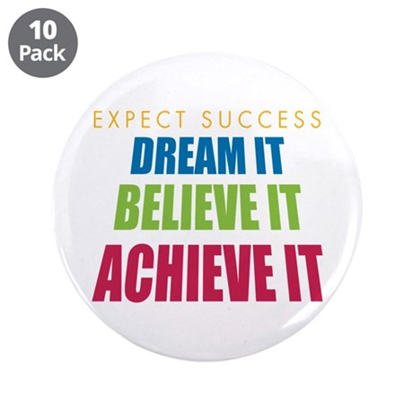 """Expect Success 3.5"""" Button (10 pack)"""