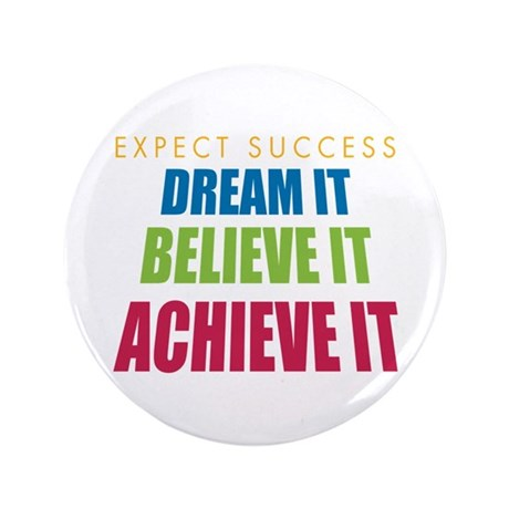 "Expect Success 3.5"" Button (100 pack)"