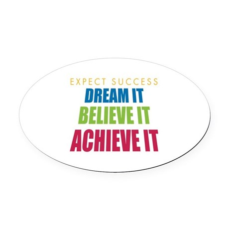Expect Success Oval Car Magnet