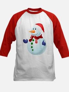 Blue Christmas Snowman Baseball Jersey