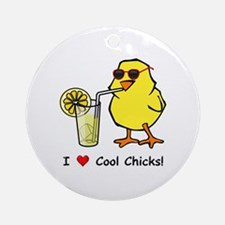 Love Cool Chicks Ornament (Round)