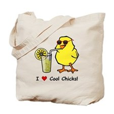 Love Cool Chicks Tote Bag