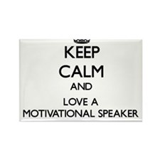 Keep Calm and Love a Motivational Speaker Magnets