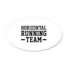 Horizontal Running Team Oval Car Magnet