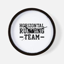 Horizontal Running Team Wall Clock