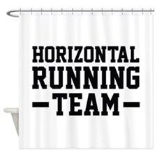 Horizontal Running Team Shower Curtain