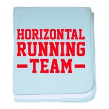 Horizontal Running Team baby blanket