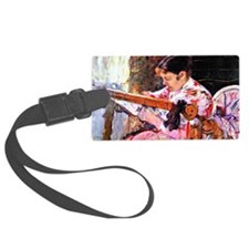 Cassatt: Lydia at the Tapestry L Luggage Tag