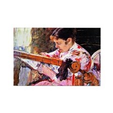 Cassatt: Lydia at the Tapestry Lo Rectangle Magnet