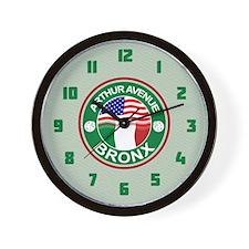 Arthur Avenue Bronx Italian American Wall Clock