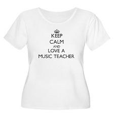 Keep Calm and Love a Music Teacher Plus Size T-Shi