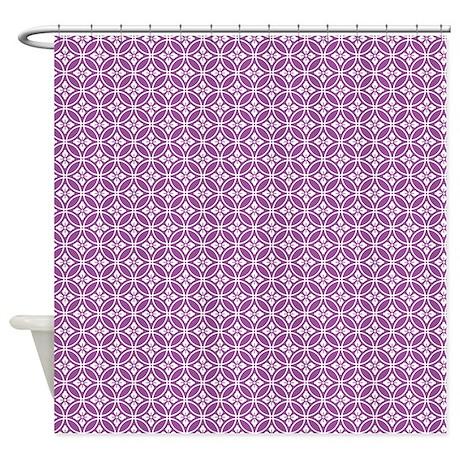 purple floral pattern shower curtain by colorfulpatterns. Black Bedroom Furniture Sets. Home Design Ideas