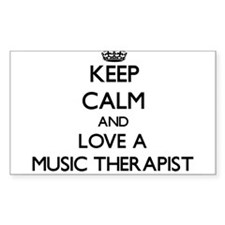 Keep Calm and Love a Music Therapist Decal