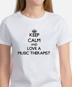 Keep Calm and Love a Music Therapist T-Shirt