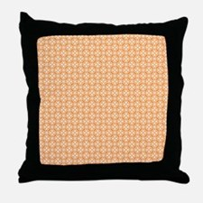 Orange Floral Pattern Throw Pillow