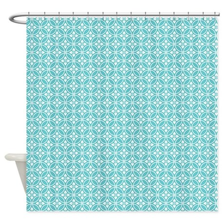 Blue Floral Pattern Shower Curtain By Colorfulpatterns