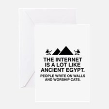 The Internet Is A Lot Like Ancient Egypt Greeting