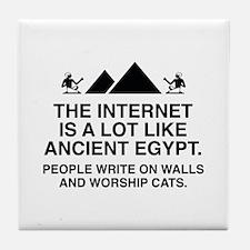 The Internet Is A Lot Like Ancient Egypt Tile Coas