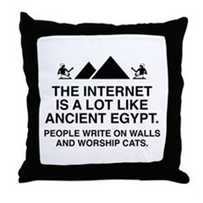The Internet Is A Lot Like Ancient Egypt Throw Pil