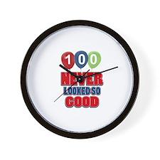 100 never looked so good Wall Clock