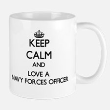 Keep Calm and Love a Navy Forces Officer Mugs